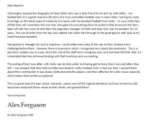Fergie letter